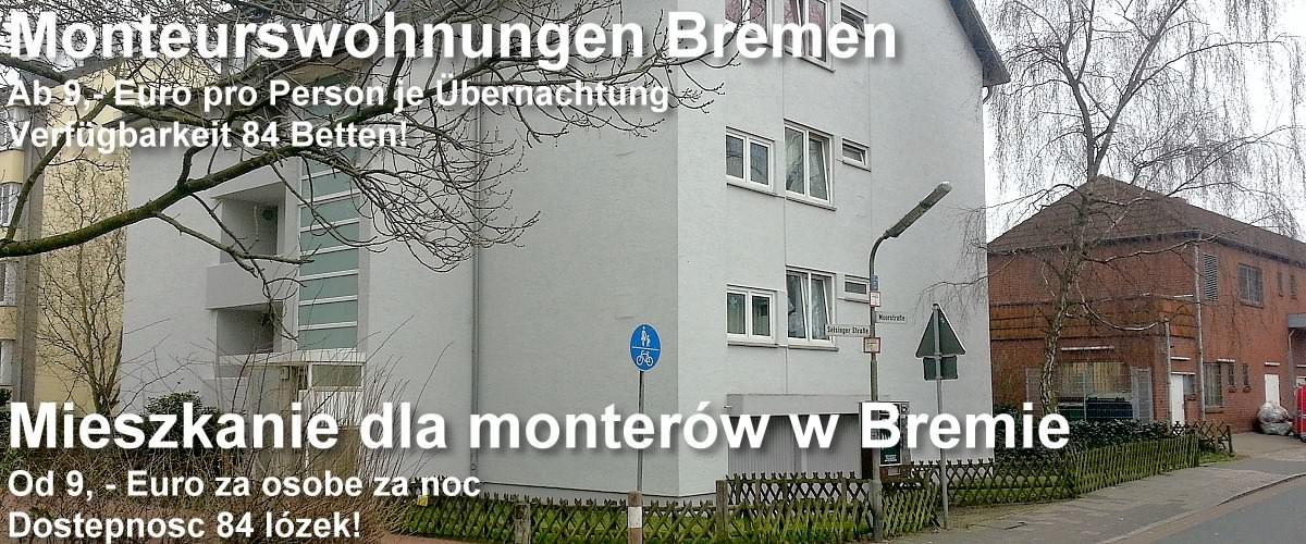 Mieszkanie dla monterów w Bremie